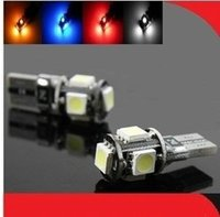Wholesale T10 Wedge SMD high intensity LED Light bulbs W5W White Red Blue Yellow