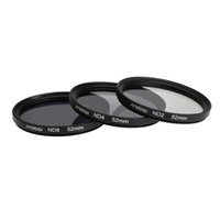 Wholesale High quality mm Fader ND Filter Kit Neutral Density Photography Filter Set ND2 ND4 ND8 for Nikon Canon Sony Pentax DSLRs