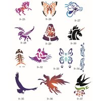 Wholesale 100 Designs Self Adhesive Body Art Temporary Tattoo Airbrush Stencils Template Books of Butterfly and Animals Booklet