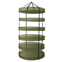 Wholesale Army Green Folding Drying Wire Nets Drying Flowers And Herbs Dismantle Large Network Dried Tea Drying Basket Layer High Wind