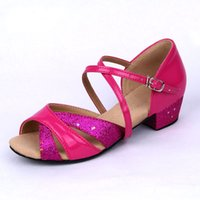 belly dancing shoes - Kids Dance sports Shoes Belly Latin Yoga Tap Salsa Fabric Low Heel Hot Sale