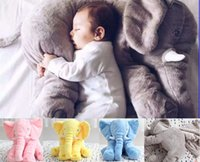 baby doll bedding - Stuffed Elephant Plush Dolls Pillow Kids Toy Children Room Bed Decoration Baby Toys DHL