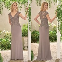 best formal wear - Grey Best Sales Mother s Dresses Sheer Back With Appliques Lace Formal Wear Womens Party Gown V Neck Custom Made Zipper Back