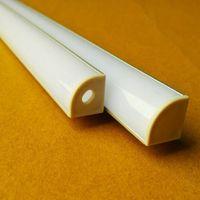 aluminium pcb - 10pcs m led aluminium profile degree triangle led channel for mm PCB board led bar light QCLS1616A