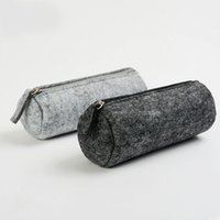 Wholesale 6pcs cylinder shap felt Pencil Bags fashion student multifunctional stationery bags pen bag large capacity drop shippi Can be customized