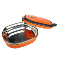 Wholesale Essential Single Stainless Steel Insulation Lunch Bento Box Food Container Bag Outdoor Picnic Bag Handbags