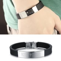 beautiful bible - The Charming Cross Bible Charm Accessories Stainless Steel Silicone beautiful Bracelet
