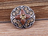 Wholesale Snap button crystal Metal DIY Noosa Bracelet Gift Bracelets mm Chunks Snap Button Jewelry