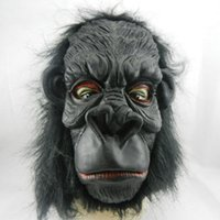 ape monkey - Hot HALLOWEEN cosplay ADULT GORILLA MONKEY APE Mask PROP chimp H106b