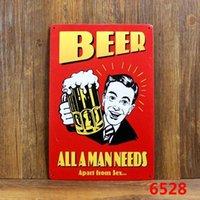 Wholesale BEER ALL A MAN NEEDS Tin Sign Bar pub home Wall Decor Retro Metal Art Poster
