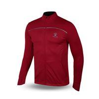 Wholesale Kelme K16R3004 Men Autumn Long Sleeve Stand Collar Thin Breathable Coat Cardigan Sport Running Knit Jacket Red