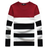Wholesale Full Sleeve Striped O neck Casual Plus Size Warm Wool Pullover Sweater Chompas Para Hombre