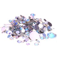 Wholesale Crystal AB Acrylic Rhinestones For D Nails Art mm mm mm mm And Mixed Sizes Glue On Stones DIY Crafts Designs Decorations