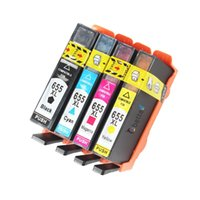 Cheap 4PK,Printer Cartridge for HP 655 655XL hp655 with Chips Deskjet Ink Advantage 3520 3525 4620 4625 5525 6520 6525 e-All-in-One
