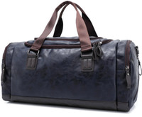 Mode Vintage PU Leather Weekend Voyages Randonnée Camp Sports Bagage Duffle Sac à main Sac à main Sac bandoulière Daypack