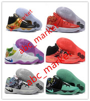 Wholesale 2016 Kyrie Irving Men Basketball Shoes Kyrie Bright Crimson Tie Dye BHM All Star Basketball Sneakers With High Quality Size