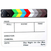 Wholesale VORONG Generic Acrylic Colorful Clapperboard TV Film Movie Slate Cut Role Play Prop Hollywood