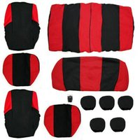 pink car seat covers - Universal Car Seat Cover A Set of Red Blue Full Seat Covers For Hooks Front Seat Back Seat Seat Head