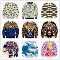 Wholesale 3d Novelty Men women Sweatshirts Print Miley Cyrus Smoking Funny Pullover Hoodies Long Sleeve Casual Wear Plus Size