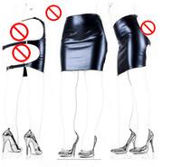 adult christmas dresses - Faux Leather Slave Spanking Skirt Open Hip Bondage Fetish Lingerie Erotic Sexy Lace Up Mini Dress Adult Sex Products Sex Toys