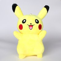Wholesale Lovely Adorable Cartoon Stuffed Animals Cute cm Pikachu Plush Dolls Birthday Gifts Elegant Animals Toys for Children and Girls