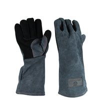 Wholesale BBQ Tools Accessories Barbecue gloves heat resistant double layer heat insulation kitchen microwave oven baking outdoor BBQ gloves