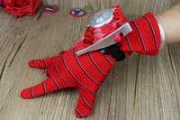 Wholesale New Ariival Flying Toys Children Spiderman Dress up Gloves Transmitter and Frisbee toys Set for Kids