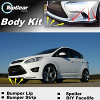 Wholesale Bumper Lip Lips For Ford C Max C Max CMax Front Skirt Deflector Spoiler For Car Tuning The Stig Recommend Body Kit Strip