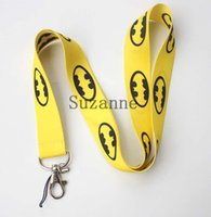batman telephone - 40 mix colors Anime Cartoon Heros Batman LANYARD ID MP3 Cell TelePhone Neck Strap LANYARDS