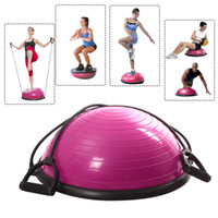Wholesale New Yoga Ball Balance Trainer Yoga Fitness Strength Exercise Workout Pump Rose