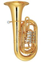 Wholesale 3 Tuba in C Key Rotary Valves Height mm with ABS Case EMS Musical instruments