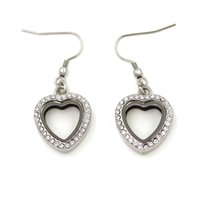 Wholesale 20MM Silver Heart Shaped Memory Living