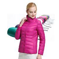 Wholesale 2016 Winter Women Jacket White Duck Down Jacket Coats Ultra Light Duck Down Jacket Parka Women Warm Outdoor Snow Parka