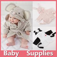 Wholesale Kids Animal Bathrobe Toddler Girl Boy Baby Cartoon Pattern Robes Towels Hooded Bath Towel Terry Wrap Bath Robes