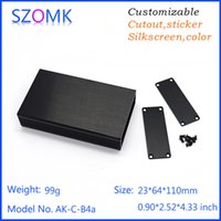aluminum enclosure extrusions - black aluminum extrusion case wire drawing aluminum control box szomk oem outlet enclosure box mm AK C B4a