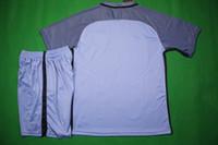 Wholesale Benwon Man City home blue football kits short sleeve soccer uniforms athletic outdoor thai quality sports sets men s soccer jerseys