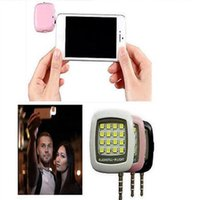 Wholesale 2016 New Camera Accessories Built in Phone led Lights LED FLASH for Camera Phone Support for Multiple Photography mini Selfie Sync A0257