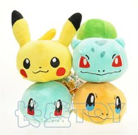 Wholesale 20pcs Poke plush Toy Pikachu Squirtle Charmander Bulbasaur lying poke Plush Toy soft stuffed doll kids toys gift