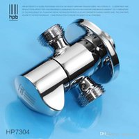 Wholesale Han Pai Brass Hot and Cold Triangular Valve for Hot and Cold Faucet Water Mixer Tap Filling Angle Valves HP7304