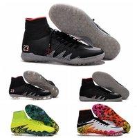 al por mayor hypervenom-Tacos de fútbol Neymar NJR X Hypervenom Phantom JR fútbol Botas HypervenomX Proximo TF Turf IC zapatos del fútbol de interior Hypervenoms Botas de fútbol