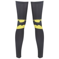 Wholesale High Elastic Breathabl Windproof Cycling Leg Sets Sports Pro Level Protection Equipment Knee pads Leggings sunscreen Batman