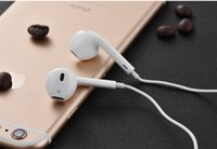 Wholesale White Headset Top AAAAA quality Headphone Ear buds mm Stereo Handsfree with Remote Mic Earphones iPhone s G ipad6 Earphone with box