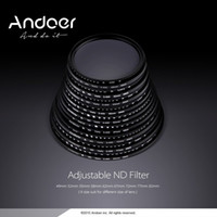 Wholesale Andoer mm ND Fader Neutral Density Adjustable ND2 to ND400 Variable Filter for Canon Nikon DSLR Camera