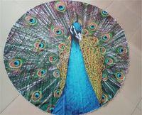 Wholesale 2016 Hotest Indian Decor Mandala Tapestry Boho polyester Round Beach Throw Peacock Printed Yoga Mat Wall Hanging Large Shawls BKT097