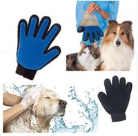 Wholesale 2016 Product Silicone Massage True Touch Glove Deshedding Gentle Efficient Pet Grooming Dogs Bath Pet Supplies Blue