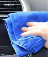 Wholesale 30 Car Wash Towels Ultra fine Fiber Clean Towels Car Towels Small Towels Washing Towels Blue Water