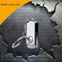Wholesale Free DHL real capacity Fashion Metal rotary USB flash drive USB pendrive GB usb memory stick U disk for gift