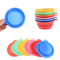 Wholesale Hot sale Pet Silicone Bowl Folding Portable Pets Dog Cat Bowls Food Drinking Water Bowl Dish Pet Products