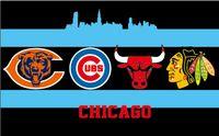 bear city - 90x150cm Chicago City All Team Flag Blackhawks Cubs Bears Bulls Flag X5FT Chicago All Day Flag brass metal holes