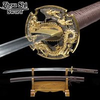 Wholesale Real handmade katana sword sword Japanese sword Samurai forged steel ninja decorative souvenir katana